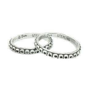 *SALE* Ring Pair El Tom Navajo Sterling Silver